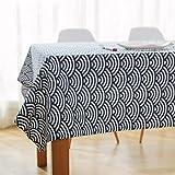 Joybuy japonés Totem ondas geométrico patrones lino y algodón mantel decoración del hogar, disponible en varios tamaños