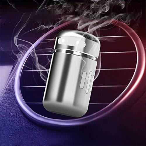 SIOJB Mini Auto Profumo di Aria Forma di Robot Deodorante fragranza Clip diffusore Uscita Automatica Profumo ProfumoSolido, Argento