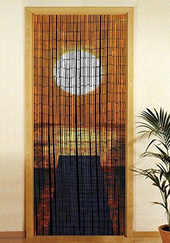 Wenko Bambusvorhang Sonnenuntergang, 90x200 cm (Terrassentür Vorhänge)