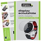 dipos Alcatel One Touch Watch Schutzfolie (2 Stück) - Antireflex Premium Folie matt