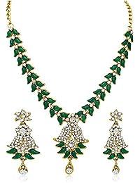 Atasi International Jewellery Rhinestone Set for Women (Green)(DG108)