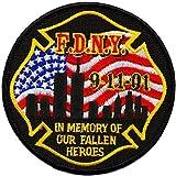 9/11 In Memory Of Our Fallen Heroes (Gedenkabzeichen der New Yorker Feuerwehr) 10 cm