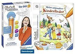tiptoi Ravensburger Kinder-Buch 4-7 | Meine schönsten Kinderlieder + Ravensburger 007004 Stift Player