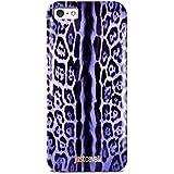 Puro Just Cavalli - Carcasa para iPhone 5/5S, diseño de estampado de leopardo, color morado