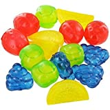Majik Fruits Shape Reusable Ice Cubes, Filled With Pure Water Used For Cocktails Party, Colourful Ice Cube, Multicolour, 25 Gram, Set Of 12, Pack Of 1
