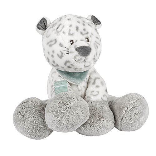 Nattou Peluche Leopardo Lea, Loulou, Lea e Hipólito, Compañero desde el nacimiento, Altura: 34 cm, Gris/Blanco