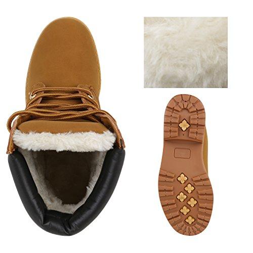 UNISEX Damen Herren Warm Gefütterte Damen Worker Boots Stiefeletten Outdoor Hellbraun Braun Gold