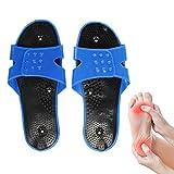Pantofole di fisioterapia dell'elettrodo, massaggiatore del piede Pantofole di Megnetic Pantofola molle del PVC di stimolatore del muscolo di agopuntura per il trattamento del corpo
