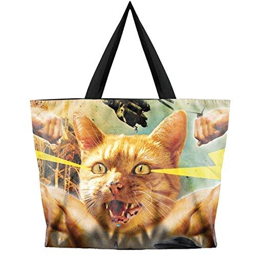 Belsen, Borsa a spalla donna multicolore Devil Taglia unica Combat Cat