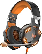 Kotion Each Over the Ear Headsets with Mic & LED - G2000 Edition