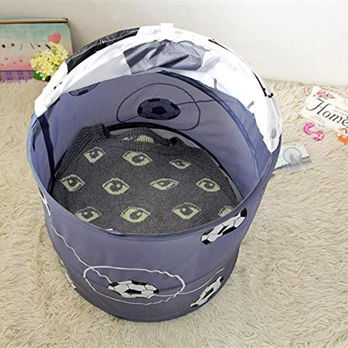 HNJing Wäschekörbe Fußball Basketball Modellierung Faltbare Wäsche Korb Lagerung Barrel Lagerung Barrel Polyester Tuch Spielzeug Speicher-A