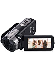 Camcorder HDV-302P 24MP Full HD Video with 16x Digital Zoom Camera (Black)