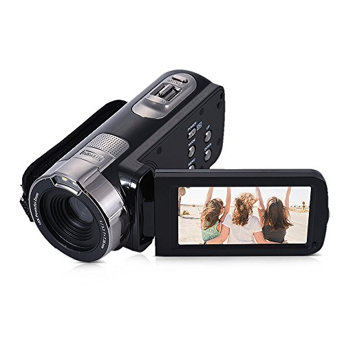 Andoer hdv-302p schermo lcd 3,0 pollici full hd 1080p 15fps 24mp 16x zoom digitale anti-shake digital video dv videocamera portatile
