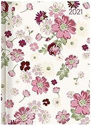 Alpha Edition - Agenda Settimanale Ladytimer 2021, Formato Tascabile 10,7x15,2 cm, Flower Love, 192 Pagine