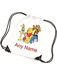 Personalised Winnie The Pooh/Piglet/Eeyore/Tigger/Rabbit School/PE/Swim Bag *choice of name colour* By Mayzie Designs®