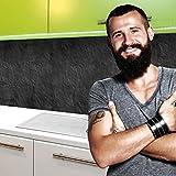 StickerProfis Küchenrückwand Selbstklebend Pro Schiefer 60 x 80cm DIY - Do It Yourself PVC Spritzschutz