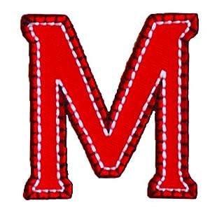 M 9cm ABC Rot Blau Stoff Patch Namen Buchstaben Aufbügler Zum Aufbügeln Auf  Halstuch Decke Rucksack Tasche Turnsack Fahne Wimpel Türschild Kissen Hemd  Jeans ...