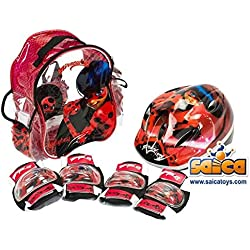 Set mochila, casco y protecciones Ladybug