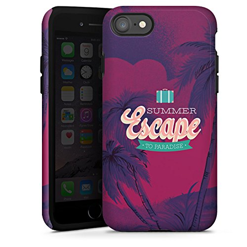 Apple iPhone X Silikon Hülle Case Schutzhülle sommer Urlaub Statements Tough Case glänzend