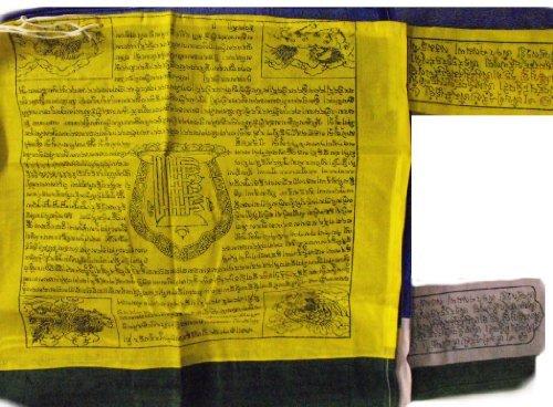 Tibetischen beste Qualität Vertikale Flagstaff Prayer Flags - 5 flags - Gesamtlänge ca. 196cm , Breite 50cm - Fair Trade