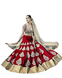 Vaankosh fashion red cotton embroidered designer bollywood collection partywear lehenga choli for women
