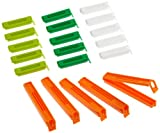 kitchen Craft 20-Piece Bag Clips, Plastic, Multi-Colour, 9 x 12 x 16 cm