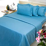 Mark Home royal blue color cotton bed sh...