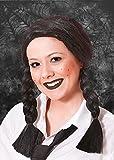 Damas góticas miércoles negro trenzado peluca