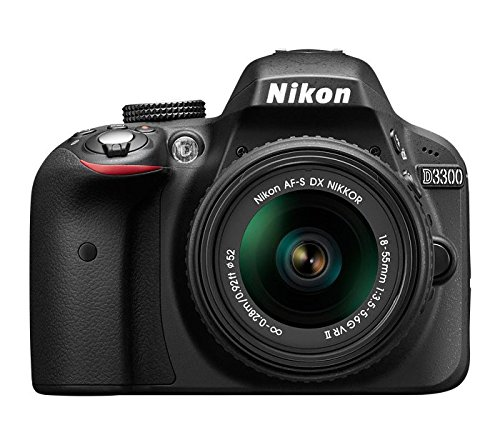 Nikon D3300 24.2MP Digital SLR (Black) + AF-P DX NIKKOR 18-55mm f/3.5-5.6G VR Lens + AF-P DX NIKKOR 70-300mm f/4.5-6.3G...