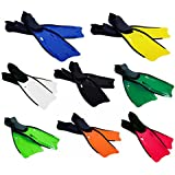 MWS2726 - Aletas de buceo para practicar inmersiones en varios colores y tallas (adultos) (NEGRO 39/40)