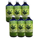 ForeverFit Aloe Vera Trinkgel, 6 x 1000ml #30242 | 100% Barbadensis Miller Blattgel UNVERDÜNNT | KEIN SAFT. KEIN Konzentrat | OHNE künstliche Vitamine | Acemannan bis 1200mg/Liter.
