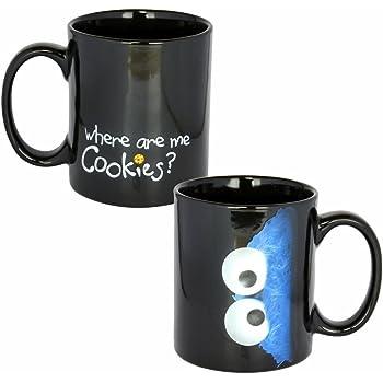 sesamstra e cookie monster tasse kr melmonster kaffeebecher sp lmaschinenfest 320ml. Black Bedroom Furniture Sets. Home Design Ideas