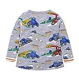 Julhold Kinder Kinder Jungen Mädchen schöne Langarm Cartoon Dinosaur Print Komfortable Bluse Kleidung 2019NEU Sommer