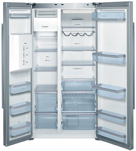 Bosch Serie 6 Side by Side / A++ / Kühlen: 385 L / Gefrieren: 177 L / Edelstahl / No Frost / Trinkwasser-Dispenser