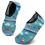 SAGUARO Strandschuhe Kinder rutschfest Badeschuhe Wasserschuhe Mädchen Schwimmschuhe Schnelltrocknend Leicht Jungen Aquaschuhe Baby Barfußschuhe,Mehrfarbig,24/25