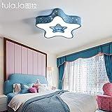Led-deckenleuchte kinderzimmer licht hauptzimmer lampe junge mädchen sterne cartoon schlafzimmer lampe kreativität, roten rahmen durchmesser 48 CM ohne pol verdunkeln