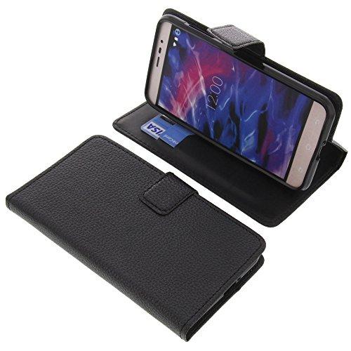 foto-kontor Tasche für MEDION Life E5006 Book Style schwarz Schutz Hülle Buch