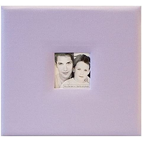 MCS MBI Fashion Fabric 8 Inch by 8 Inch Postbound Album, Lilac, 9.6 x 8.5 Overall by MBI