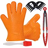 Hifine Barbecue Gloves, Pulled Meat Separate Pork Claws Set and Grill Accessories Kit for Home Kitchen Tools BBQ