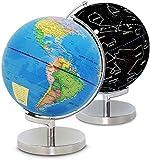 Taoke Mappamondi, Illuminato Globo Mondo Notte della Costellazione, globi LED Geografia Strumenti di apprendimento, Ufficio Aula Mappamondo Globe (Colore: Blu, Dimensioni: One Size)