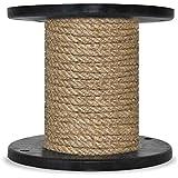 50m 8mm -- HANFSEIL Naturfasern gedreht Naturhanf Tauwerk Hanf Jute Tau Seil Tauziehen