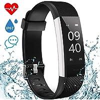 Montre Connectée Smartwatch Bracelet Connecté Podometre Montre Sport IP67 Fitness Tracker avec Cardiofrequencemetre Sommeil 14 Multi-Sports Rappel d'Appel et SMS Compatible avec Android et iOS Aisirer