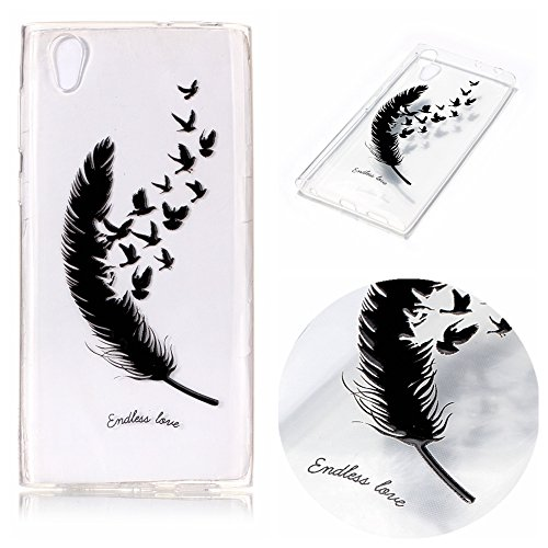 Cozy Hut Coque Sony Xperia L1, [Liquid Crystal] Ultra Fine TPU Silicone [Crystal Clear] Transparent/Adhérence Parfaite/Anti-Trace Souple Coque pour Sony Xperia L1