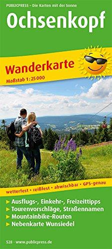Ochsenkopf: Wanderkarte mit Ausflugszielen, Einkehr- & Freizeittipps, Mountainbike-Strecken und Nebenkarte Wunsiedel, wetterfest, reissfest, abwischbar, GPS-genau. 1:25000 (Wanderkarte / WK)