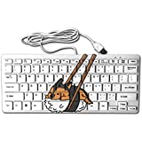 Sushi German Shepherd 78 Keys Wired USB Mini Slim Keyboard For Pc Computer Laptop