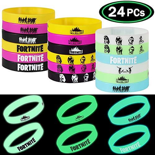 LlorenteRM Wristbands Set Party Supplies Silicone Bracelets Wristband For Fans Gamer Gifts Set 24Pcs
