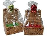 Confezione da 10 sacchetti trasparenti in cellophane - Cestini porta ceste regalo - Confezioni regalo - Sacchetti dolci - (Taglia grande = 47x43x122cm di altezza)