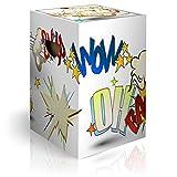 murando Papphocker Motiv Comic 45x30x30 cm faltbar Papier Hocker ergonomischer Karton Photohocker Falthocker i-C-0129-ap-a