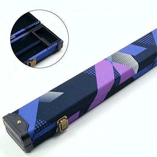 2stecca 80S blu & nero 1PC Pool snooker Cue case-può contenere 2stecche