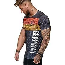 Herren T-Shirt Flag Slim Fit - Alemannia Deutschland Germany WM 2018 WC Weltmeisterschaft World Cup